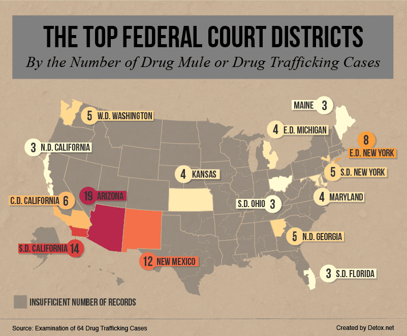 top-federal-court-districts-by-drug-trafficking-cases