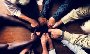 Group therapy to overcome addiction.