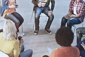 people in group therapy for relapse prevention