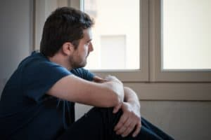 Man possibly experiencing effects of benzodiazepine withdrawal